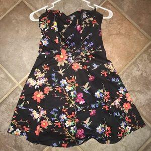 Bebe floral black dress